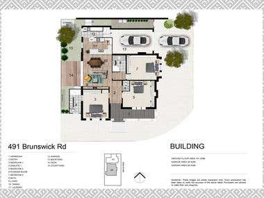 2D Floor Plan Renders