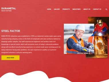 Durametal Factory Website (WordPress)