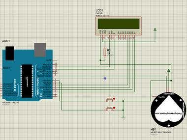 Heartbeat measurement using arduino