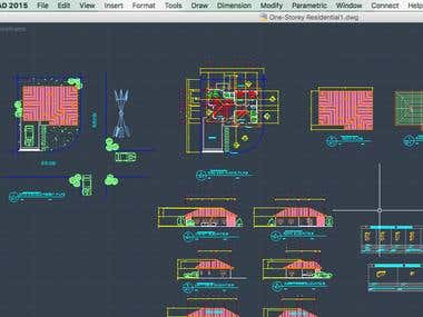 AN EXAMPLE OF MY WORK IN AUTOCAD