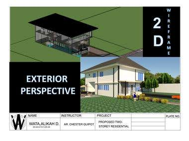 THIS AN EXAMPLE OF 3D BOTH IN AUTOCAD AND SKETCHUP