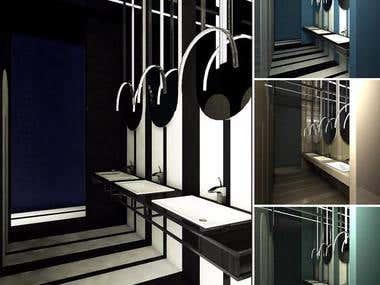 Bathroom render & design