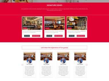 Restaurent Table Booking Website