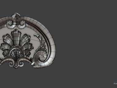 3D mode of a Decor Piece