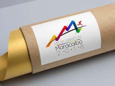 Logo para la media maraton Maracaibo