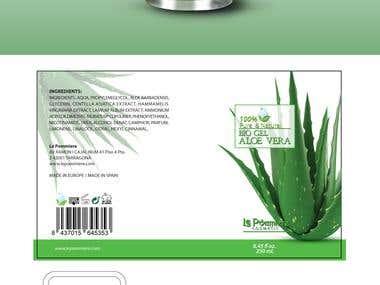 Packaging design Label Design for alovera bottle
