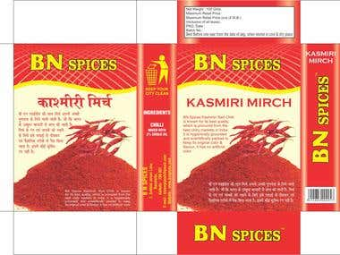SPICE BOX PACKAGING DESIGN