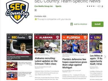 SEC Country :Team-Specific News