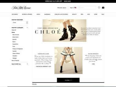 Fashion Shopping Site