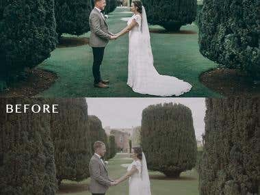 Wedding Color correction