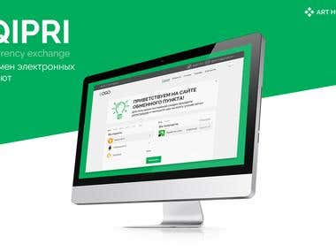 """Design of site """"Qipri.com"""""""