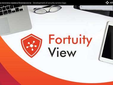 Logotype Fortuity View (Secuirity Service)