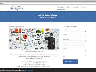 Corporate Website For Media Terra (www.media-terra.eu)
