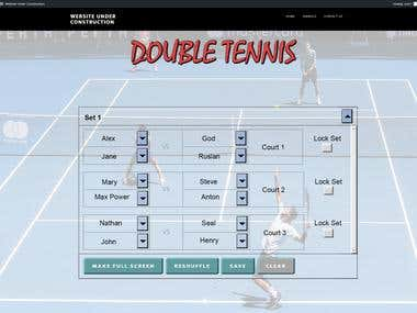 Double Tennis Plugin with Wordpress(PHP+Angularjs)