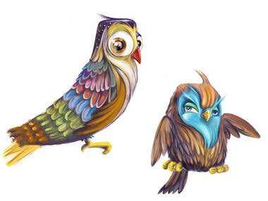 Bird and owl