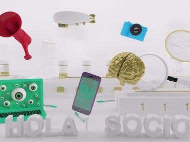 3d Branding - Art Direction - SOCIO Contenidos