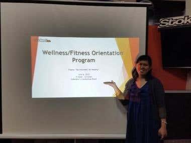 Spearheaded a Health and Wellness Activity