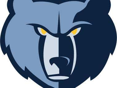 Memphis Grizzlies Logo Tracing