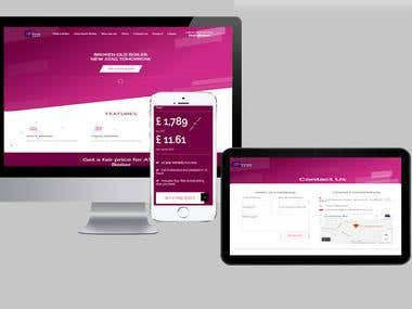 Energy Giant website for client