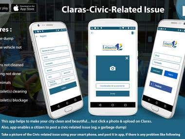 CLARAS: A Social App to Report all Civic related Issues