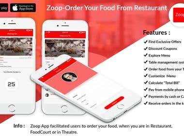 Zoop: Order Food from Restaurant