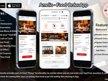 Amelio: Food Order App
