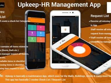 Upkeep: HR(Hotel, Office, etc.) Management App