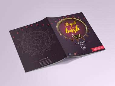 Indian traditional event brochure design
