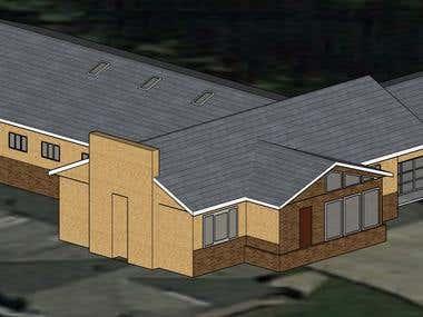 Sketchup house modelling