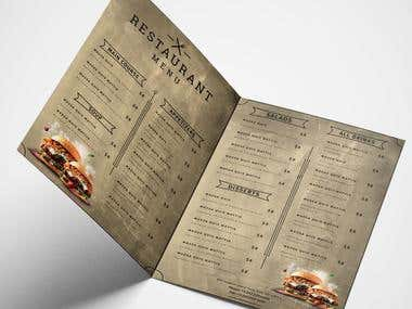 Lots Of (Food Menus)