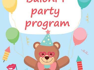 Poster for ballon and party supplies shop