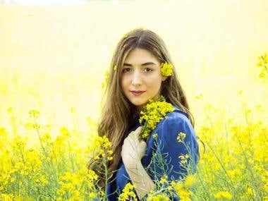 Spring yellow portrait