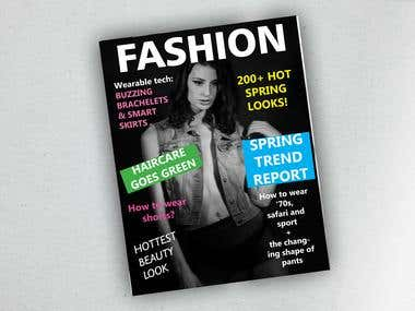 Fashion newspaper cover photo and design is mine