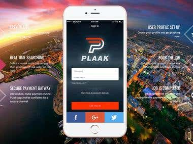 Plaak - on demand services app