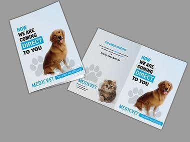 Pet Medicine bi fold brochure