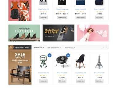 Design fo E-commerce website like AliExpress