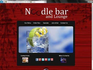 Website for Noodle Bar at Hard Rock Hotel and Casino