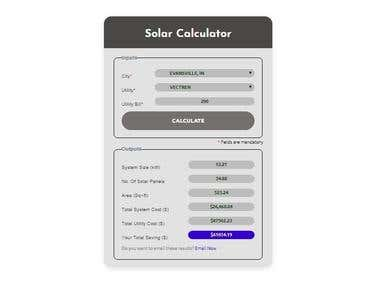 Solar Calculator Widget