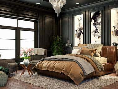 Luxury Black bedroom
