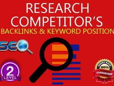 I Will Provide You Competitors Ranking And Backlink Report