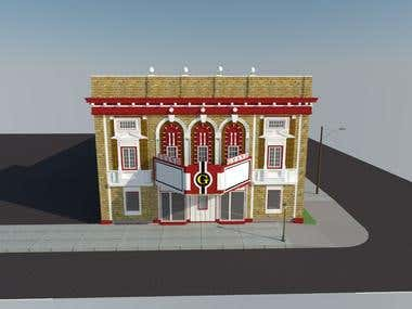 3d Design of An Old Cinema using Sketchup
