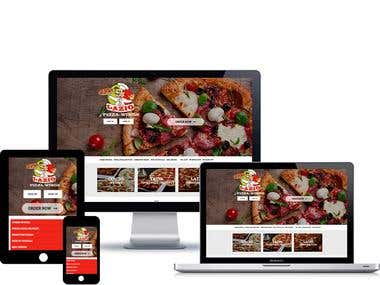 Responsive Pizza ordering website design and development