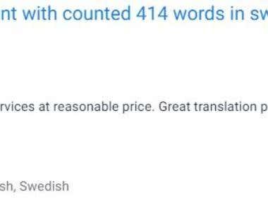 Translate English to Swedish, danish, Finnish and Norwegian