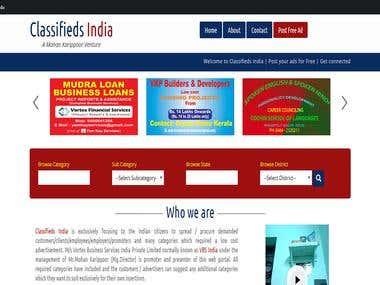 Website Designing & Development - Classifieds