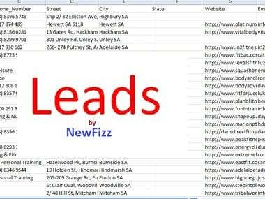 Lead Generation, Data Entry, Email marketing