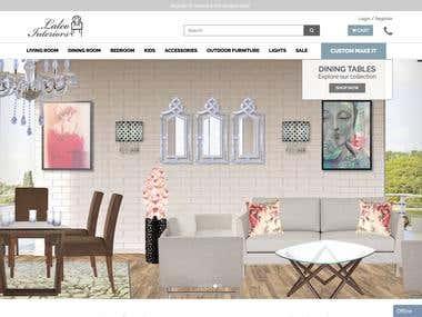 eCommerce Website on Laravel- Lalco Interiors