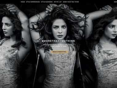 Blenders Pride Fashion Tour- India Website Development