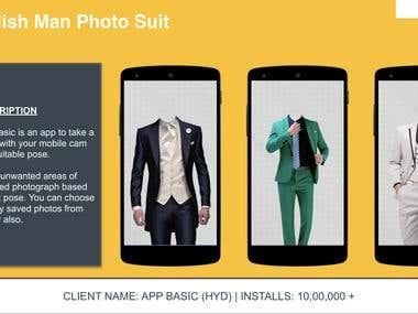 Mobile Application - Stylish Man Photo Suit