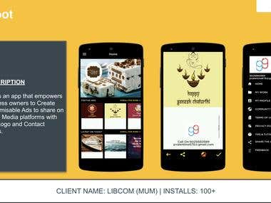Canva like Mobile Application- Image Processing app