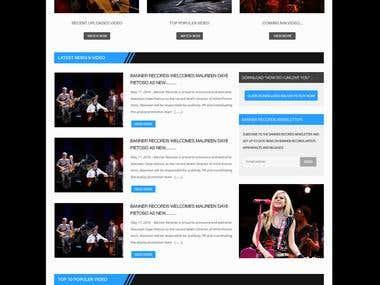 Video Channel Website Design